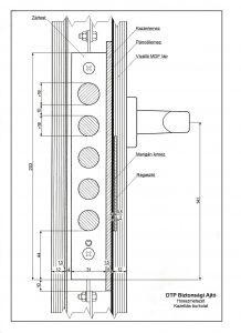 Biztonsági ajtó hosszmetszet - kazettás - 2